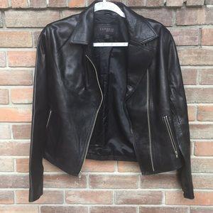 Express Jackets & Coats - Express Classic Leather Jacket - Black